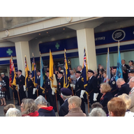 Standard Bearers at the Royal British Legion Armistice Day Commemoration in Bedford