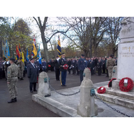 The 2014 Remembrance Service at the War Memorial on the Embankment, Bedford