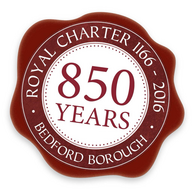 Bedford's Royal Charter 850th Anniversary Logo