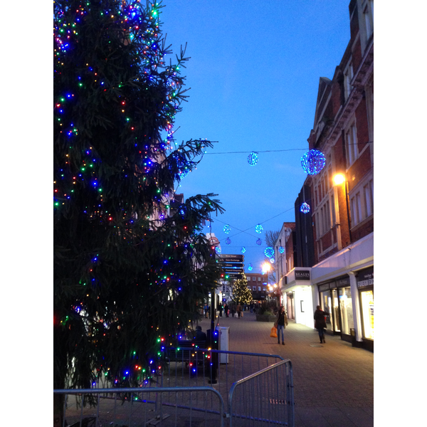 Bedford Town Centre at Christmas