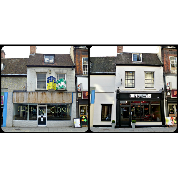Before and After The Transformation of 82 High Street, Bedford