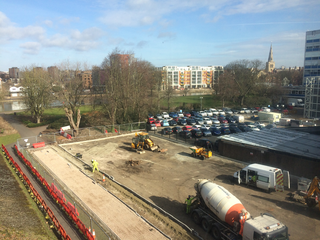 St Mary's Car Park in Bedford, During Construction