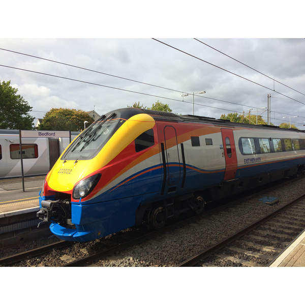 Intercity train at Bedford Station