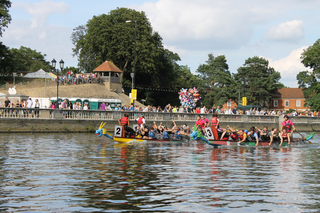 Dragoon Boat Racing at the Bedford River Festival