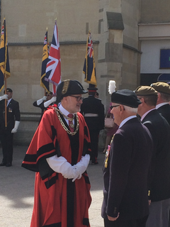 Mayor Dave Hodgson Talks to Veterans at the Armed Forces Day Parade