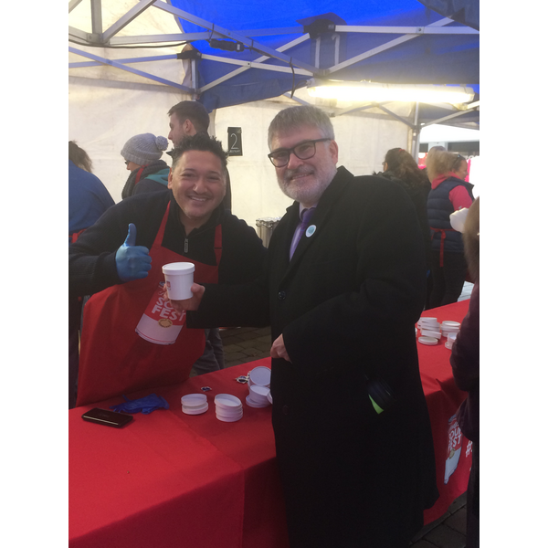 Mayor Dave Hodgson at Bedford SoupFest
