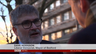 Mayor Dave Hodgson on BBC News