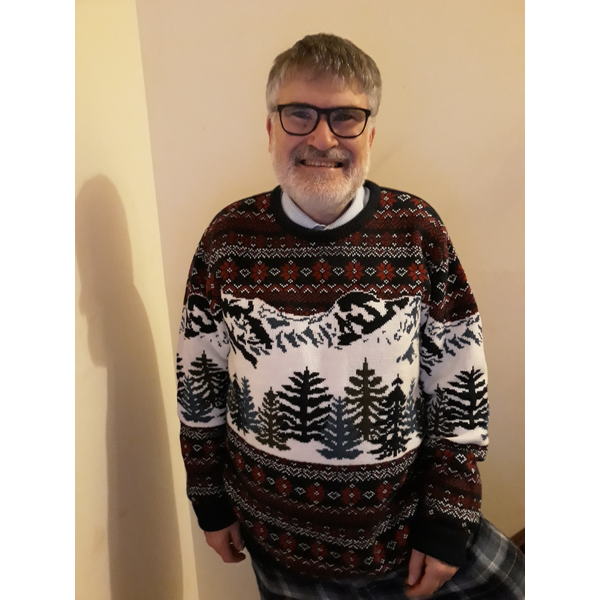 Mayor Dave Hodgson in his Christmas Jumper