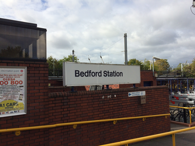 Bedford Railway Station Sign