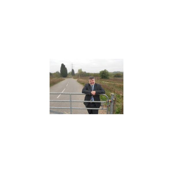 Dave Hodgson at the Clapham end of the planned final section of the Bedford Western Bypass