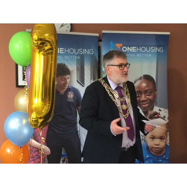 Mayor Dave Hodgson Speaking at the First Birthday Celebration for Clarence House