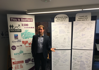Henry Vann at Bedford town centre consultation drop-in session