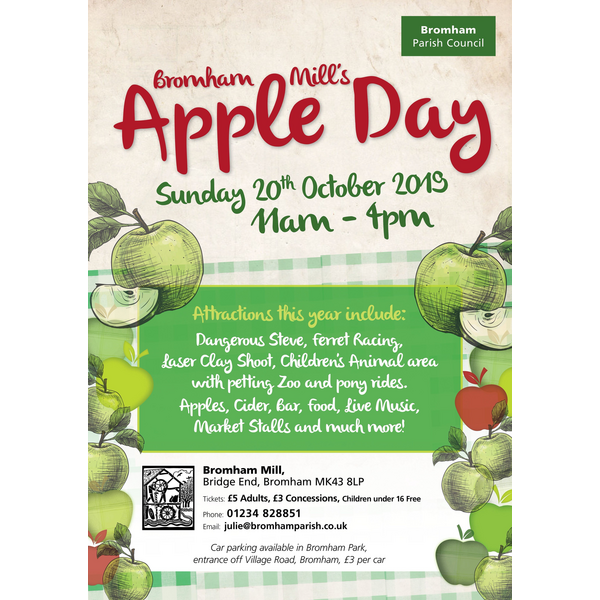 Apple Day at Bromham Mill Poster