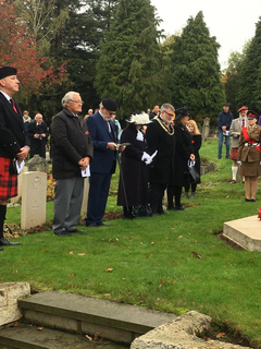 Bedford Pipe Band Highlander Division Service of Remembrance