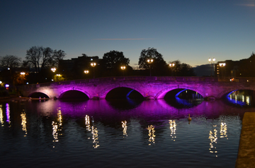 Bedford Town Bridge during Baby Loss Awareness Week 2020