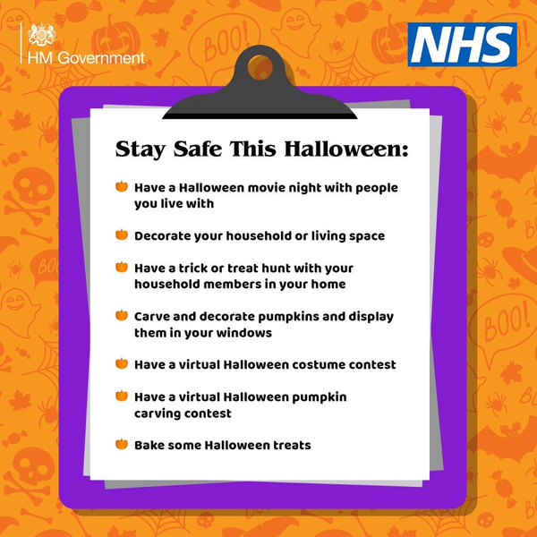 NHS Halloween graphic