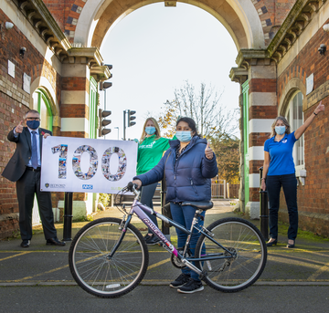 100 bikes donated to key workers (Photo credit - Scott Brimley, Bedford College)