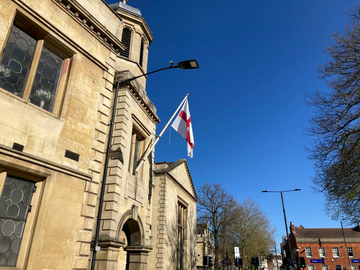 St George's Flag at the Old Town Hall
